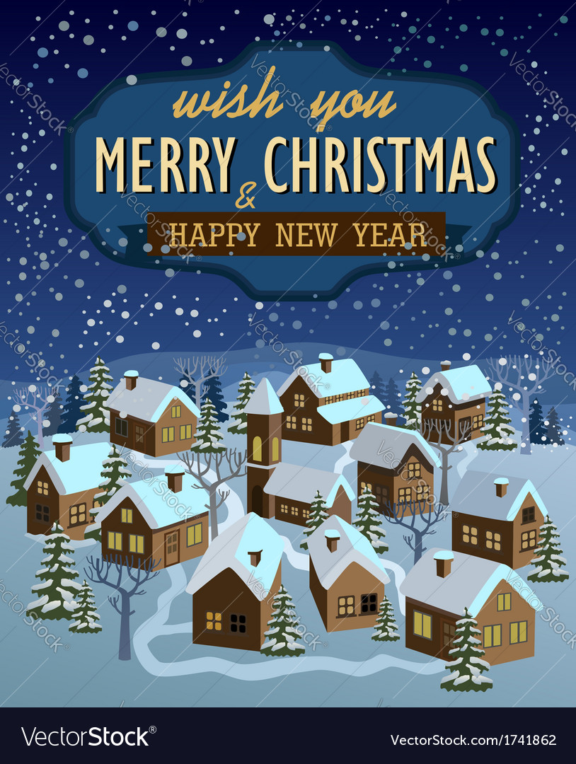Merry christmas and happy new year vector | Price: 3 Credit (USD $3)