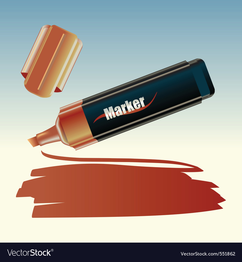 illustration of the marker drawing on the s vector | Price: 1 Credit (USD $1)