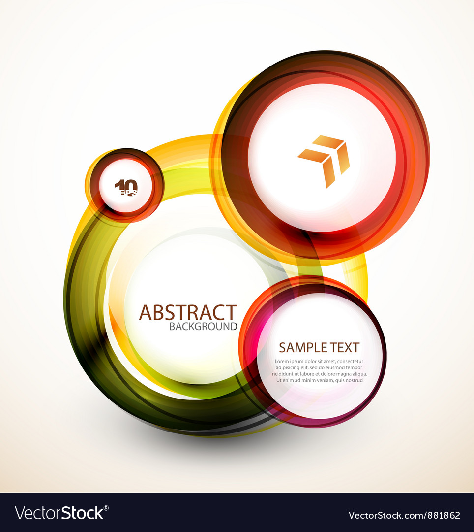 Orange web circle banner vector | Price: 1 Credit (USD $1)
