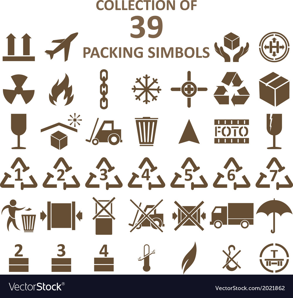 Packing simbols vector | Price: 1 Credit (USD $1)