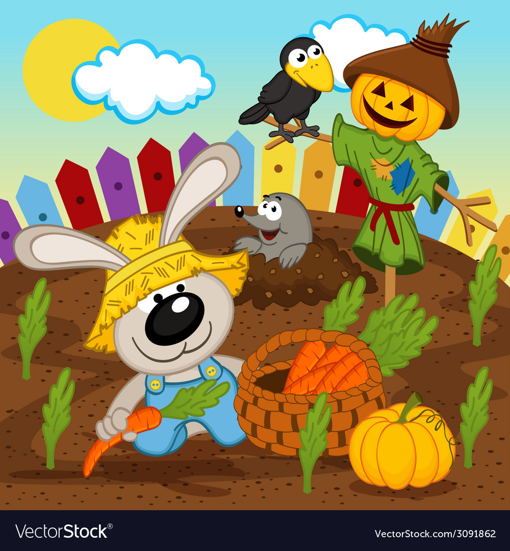 Rabbit harvest vector | Price: 1 Credit (USD $1)