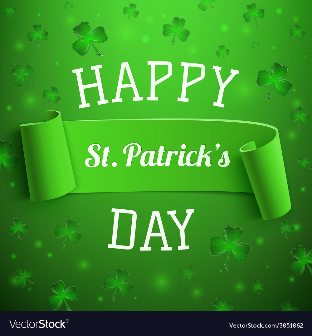 Saint patricks day greeting card background vector