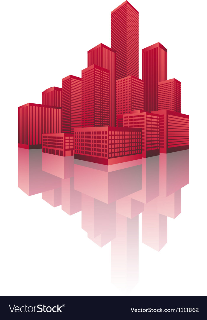 Skyscrapers cityscape vector | Price: 1 Credit (USD $1)