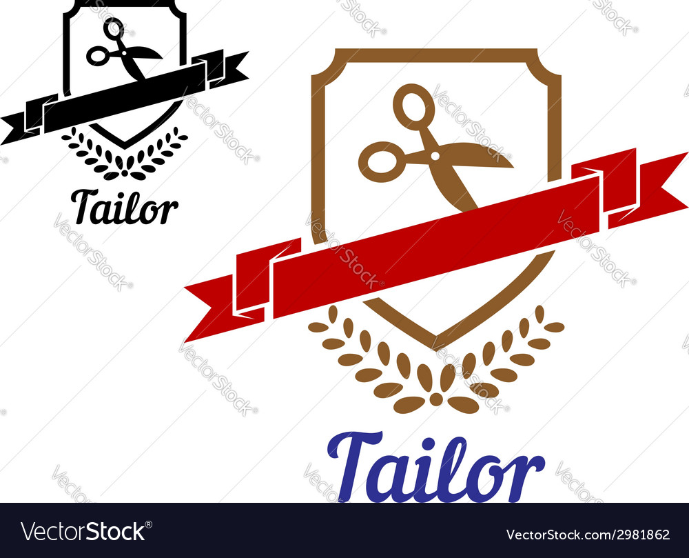 Tailor or sewing emblem vector | Price: 1 Credit (USD $1)