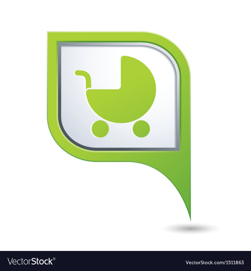 Carriage symbol on green map pointer vector   Price: 1 Credit (USD $1)
