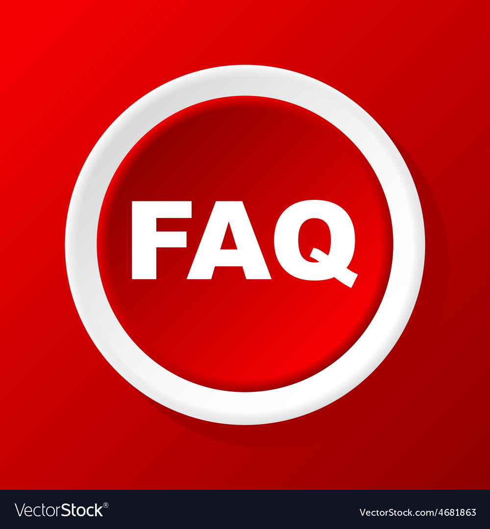 Faq icon on red vector   Price: 1 Credit (USD $1)