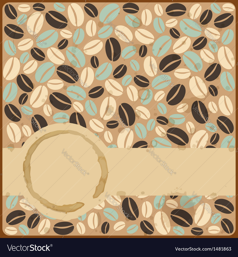 Grunge retro vintage card with stains and coffee vector | Price: 1 Credit (USD $1)