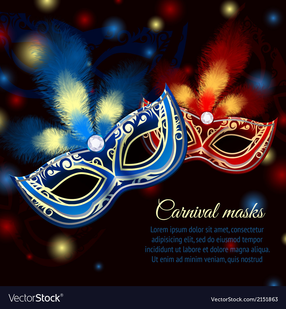 Party mask background vector | Price: 1 Credit (USD $1)