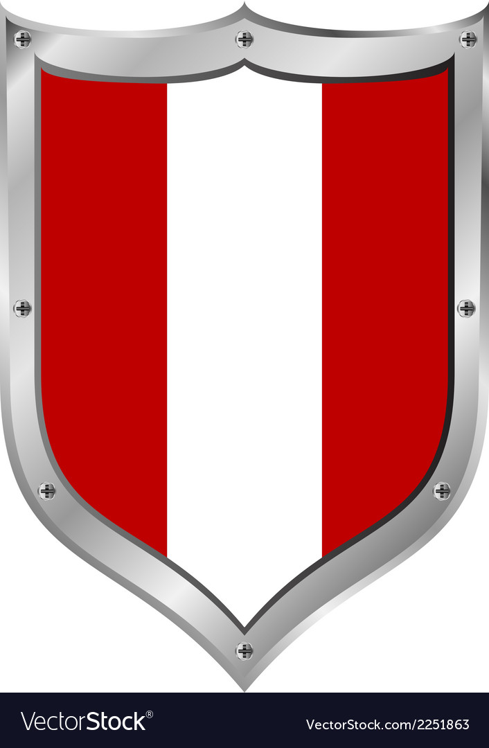 Peru flag button vector | Price: 1 Credit (USD $1)