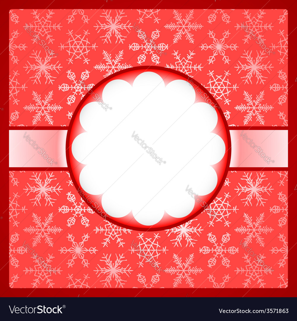 Red frame with snowflakes vector   Price: 1 Credit (USD $1)