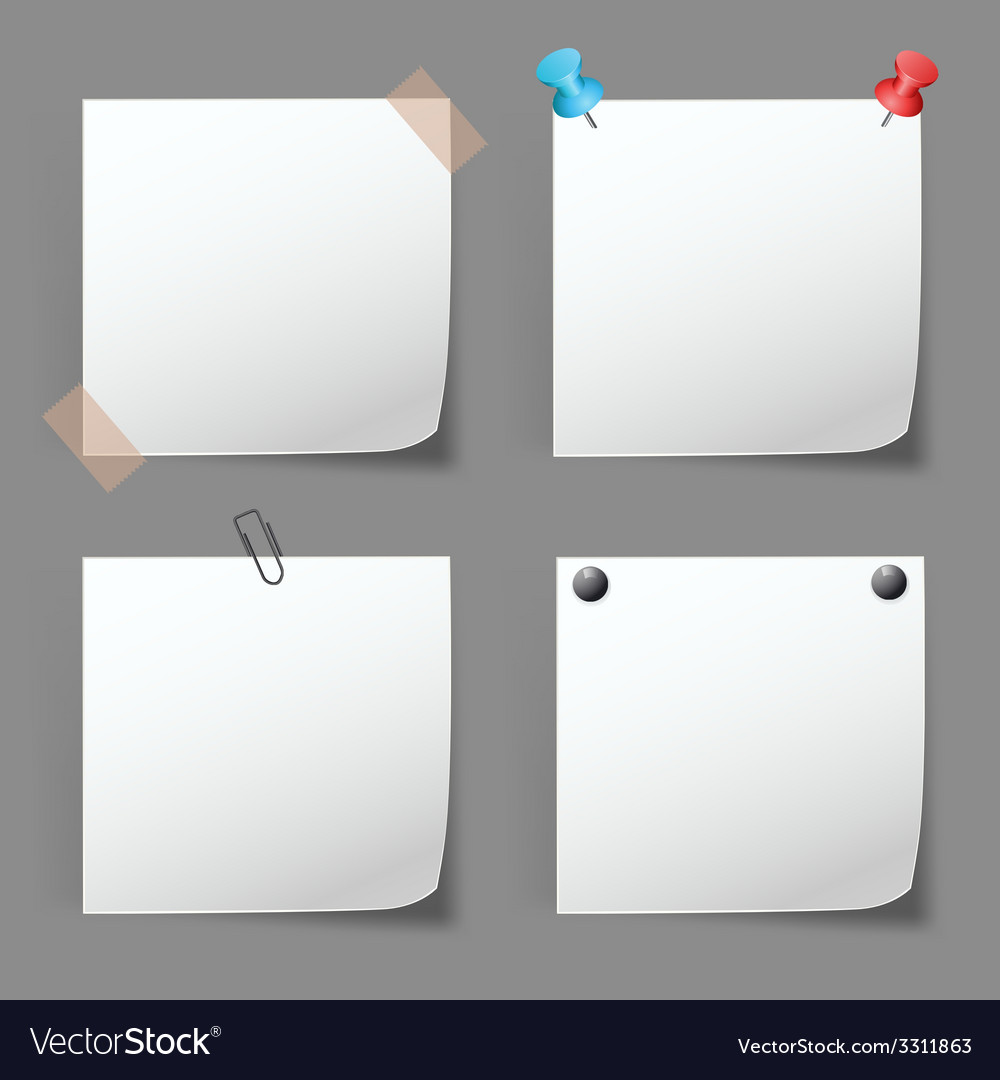 Set of paper notes vector   Price: 1 Credit (USD $1)
