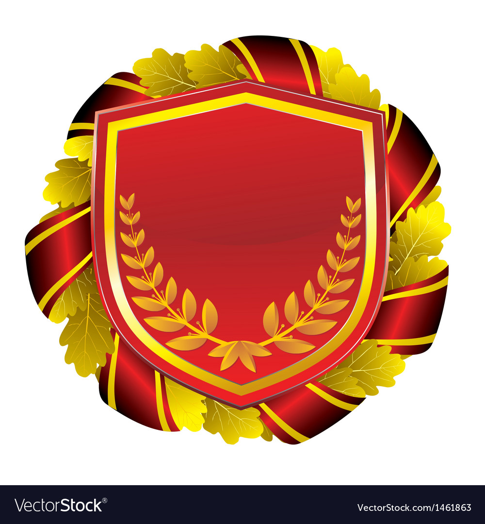 Shield red vector | Price: 1 Credit (USD $1)