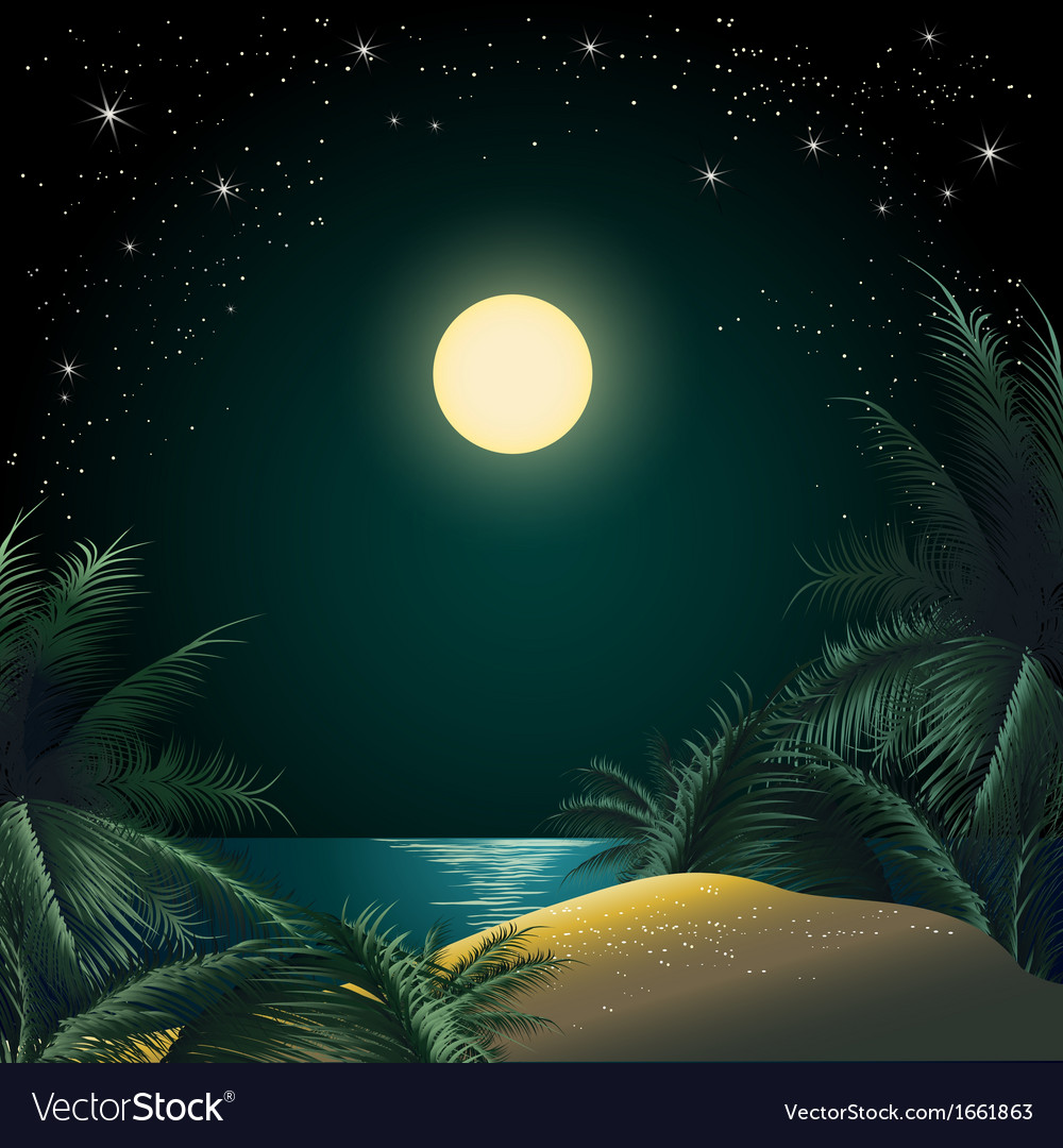 The tropical island vector | Price: 3 Credit (USD $3)