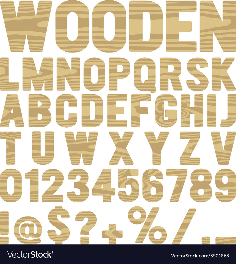 Wooden type vector | Price: 1 Credit (USD $1)