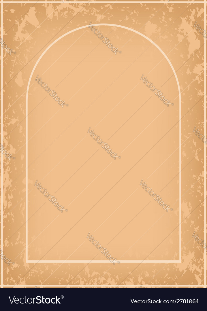 Arch frame with grunge pattern vector | Price: 1 Credit (USD $1)