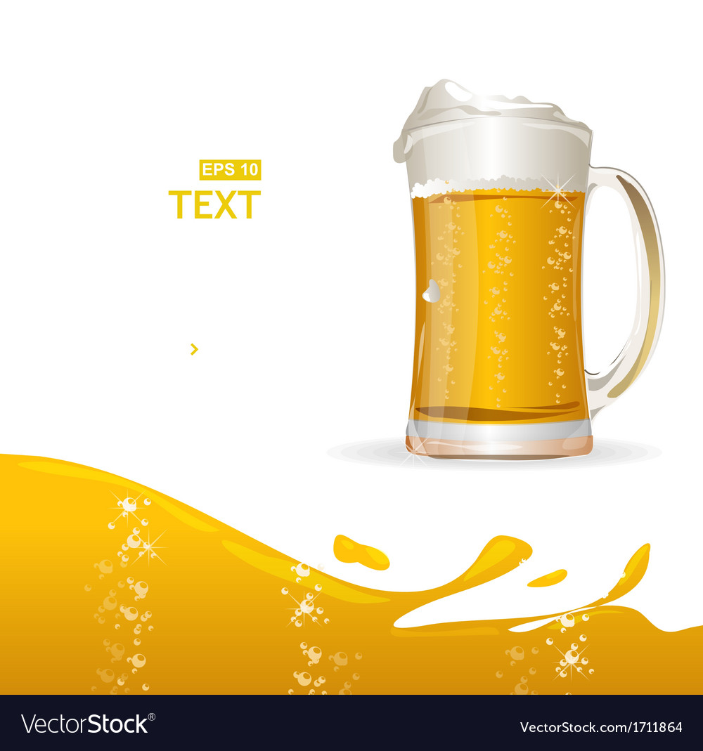 Beer mug background for text vector | Price: 1 Credit (USD $1)
