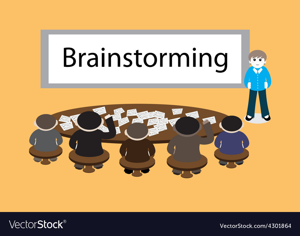 Business brainstorming vector | Price: 1 Credit (USD $1)