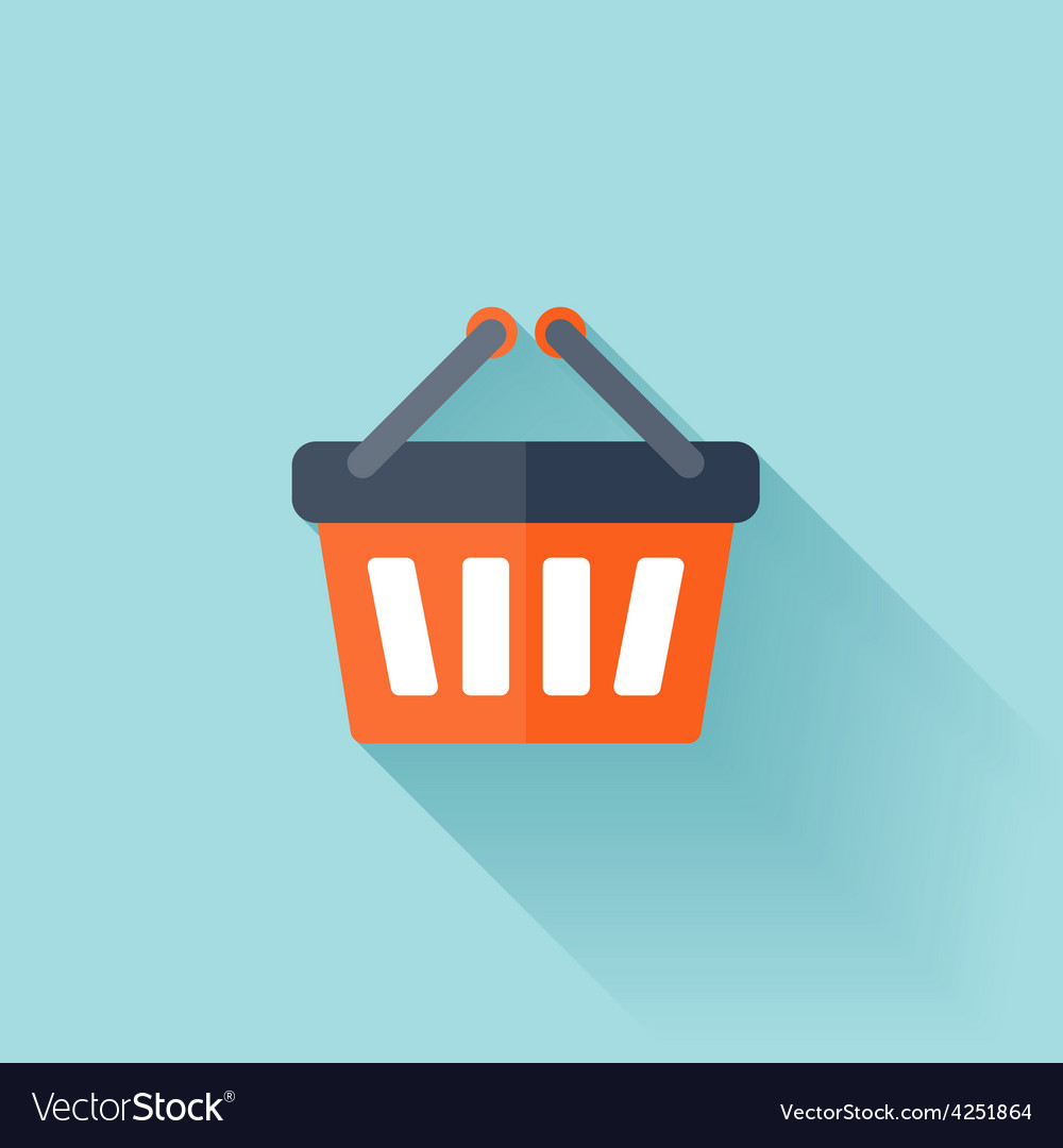 Flat shopping bag icon vector | Price: 1 Credit (USD $1)