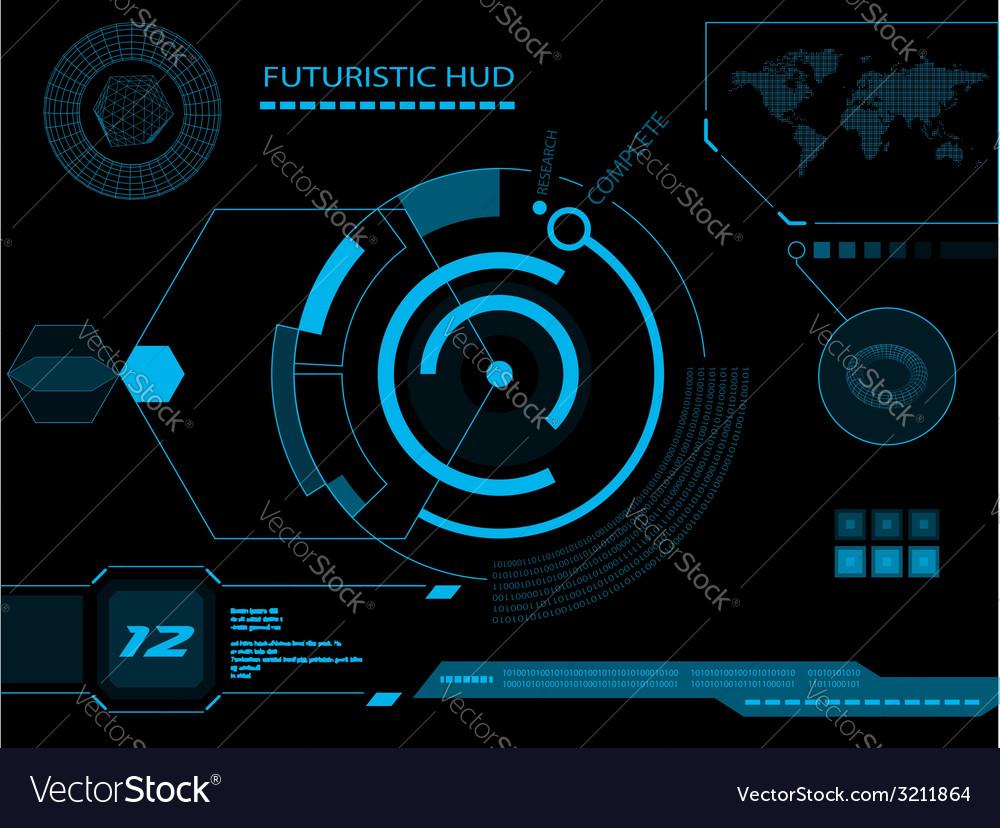 Futuristic user interface hud vector | Price: 1 Credit (USD $1)