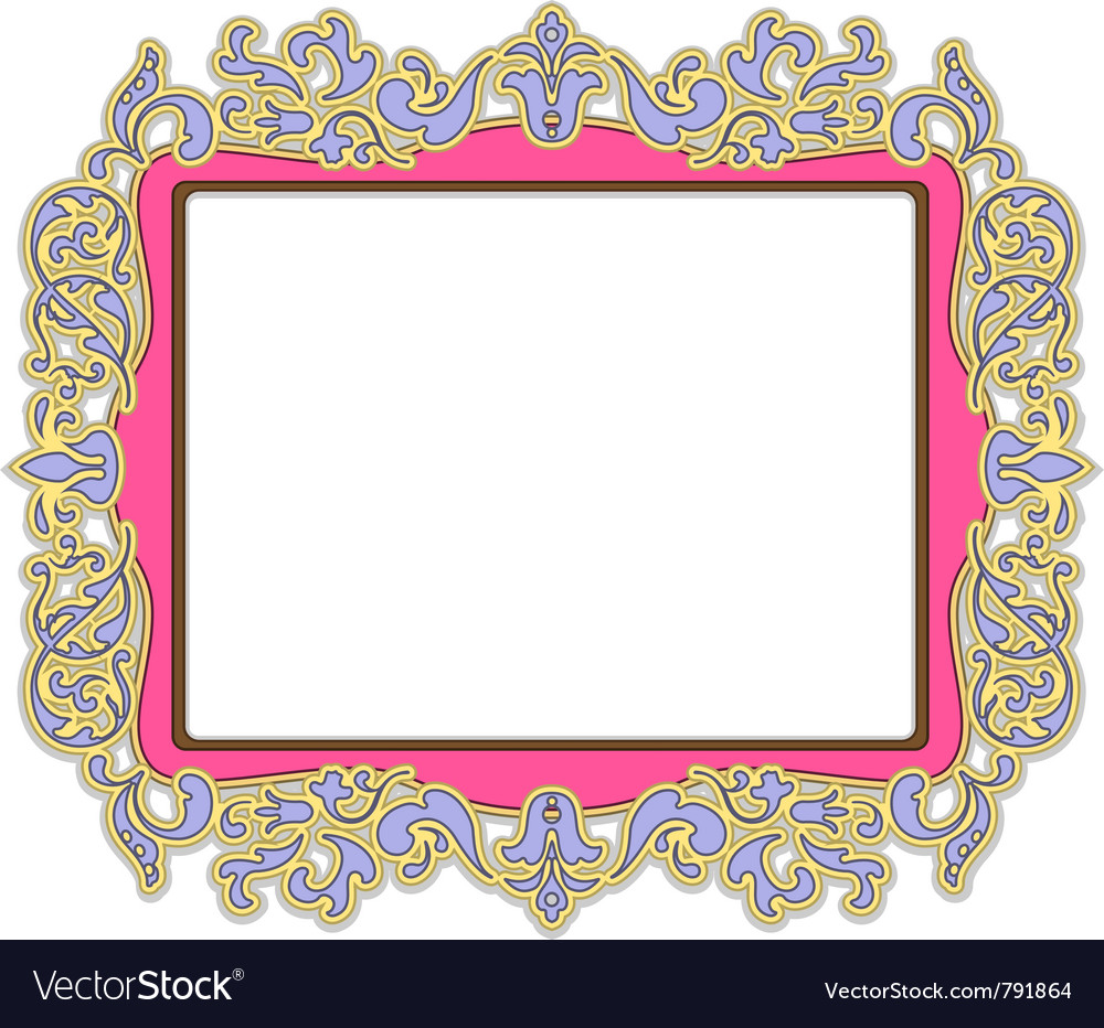 Pink frame vector | Price: 1 Credit (USD $1)