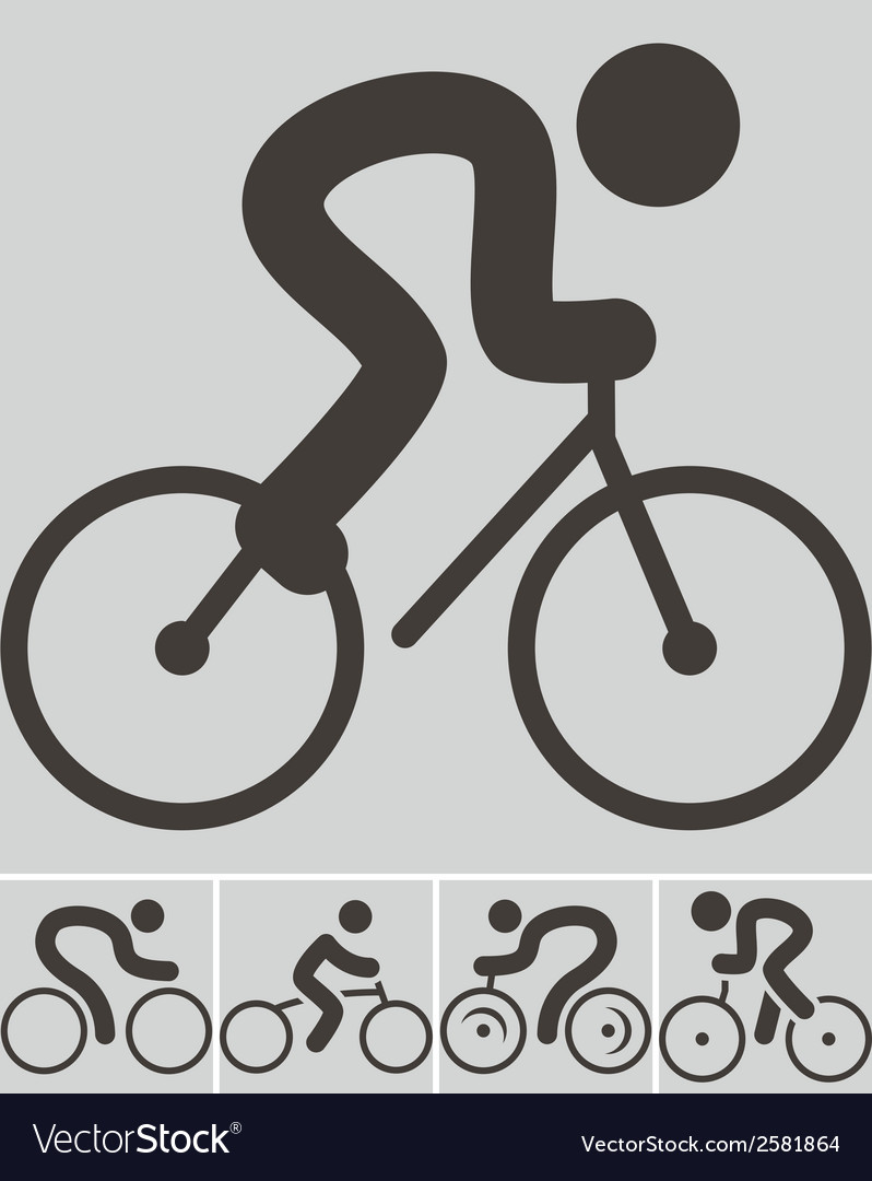 Set of cycling icons vector | Price: 1 Credit (USD $1)