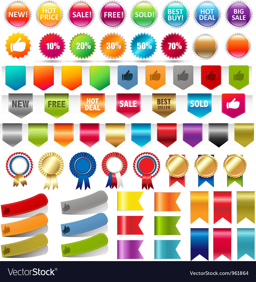 Various labels vector | Price: 1 Credit (USD $1)