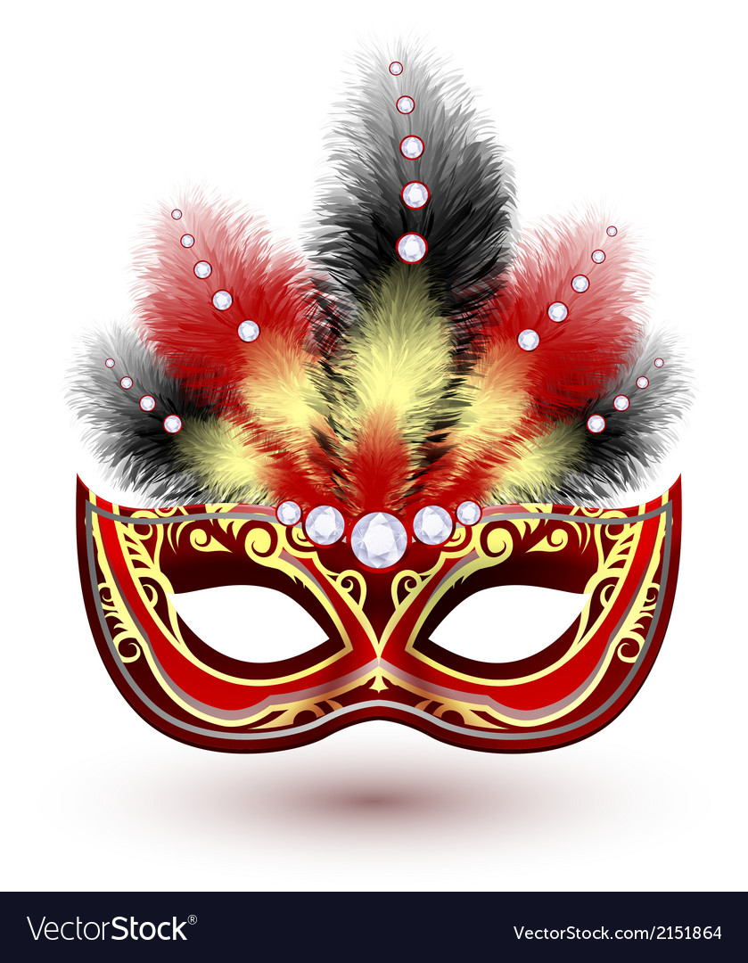 Venetian carnival mask emblem vector | Price: 1 Credit (USD $1)