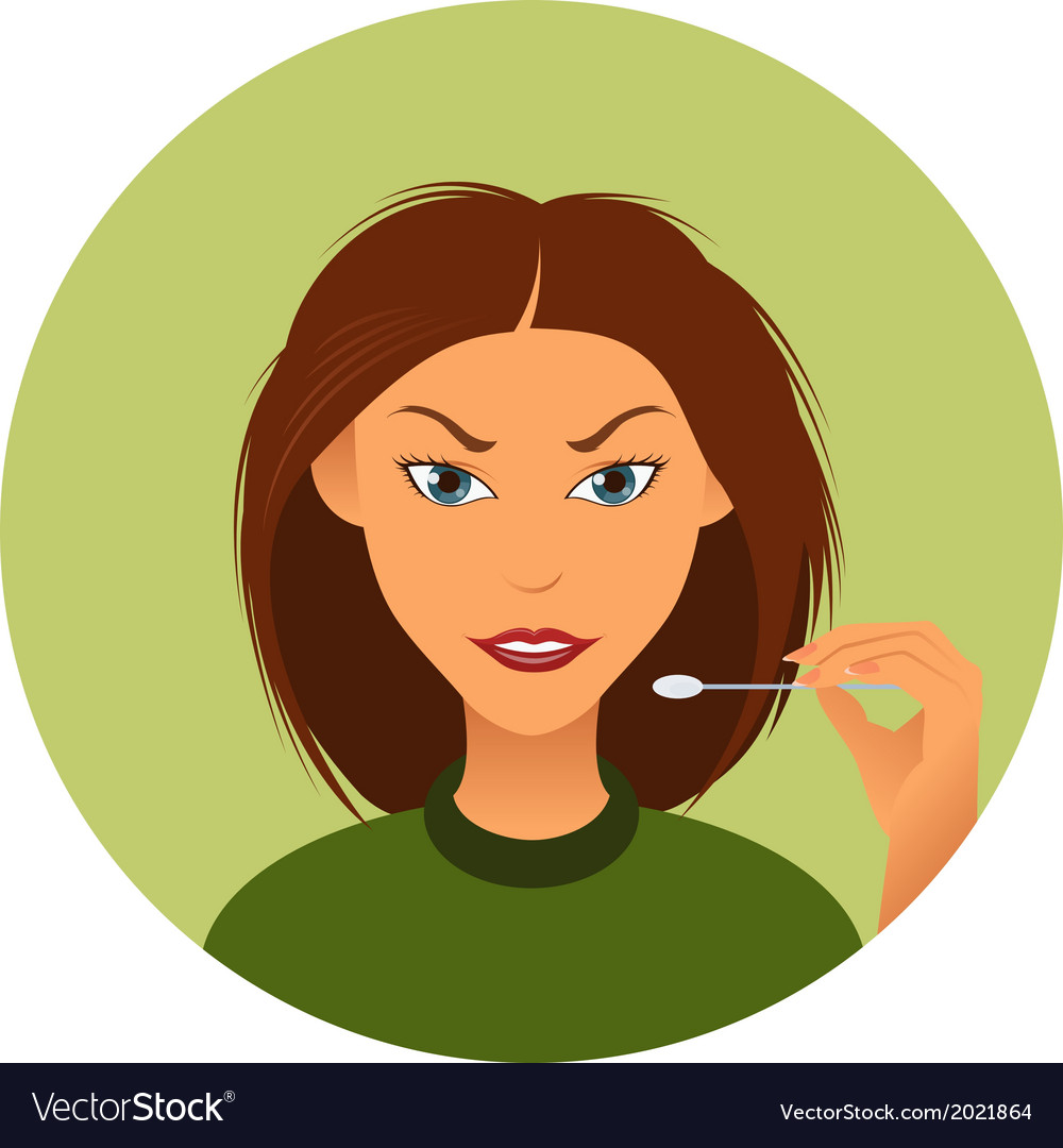 Woman and wadding stick vector | Price: 1 Credit (USD $1)