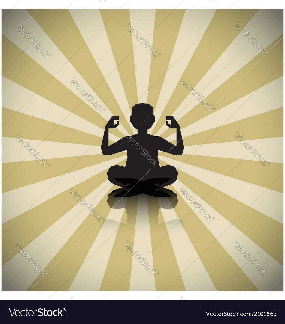 Abstract meditating people background vector | Price: 1 Credit (USD $1)