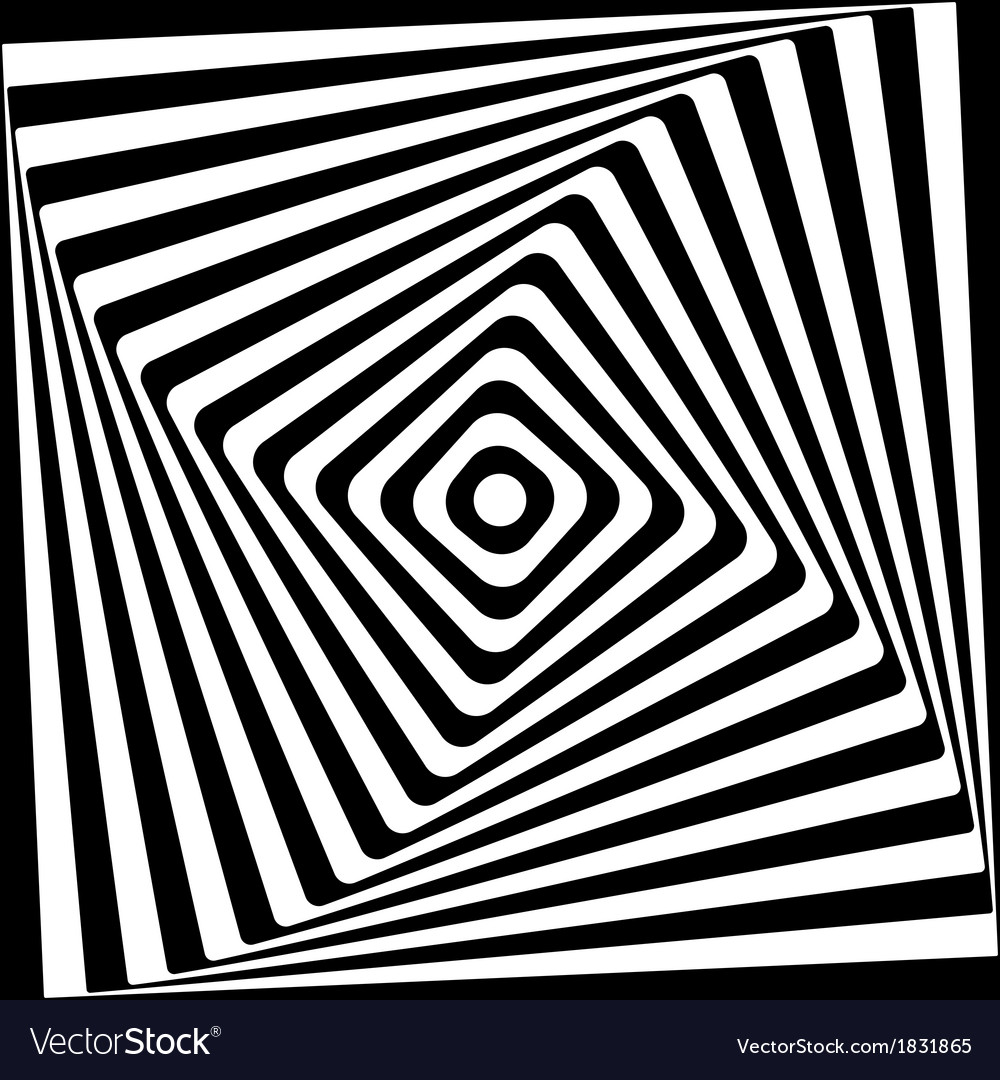 Abstract square spiral black and white pattern vector | Price: 1 Credit (USD $1)