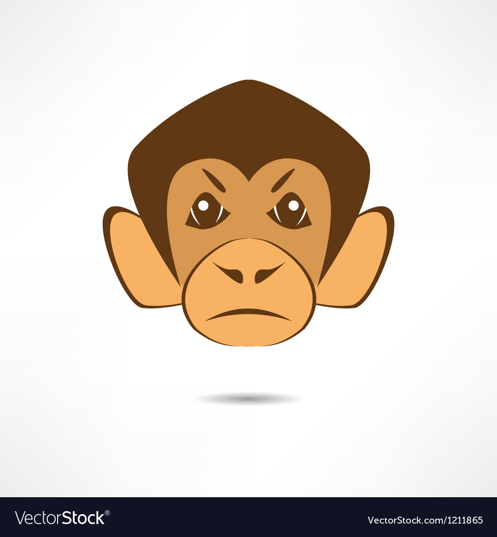 Angry monkey vector | Price: 1 Credit (USD $1)