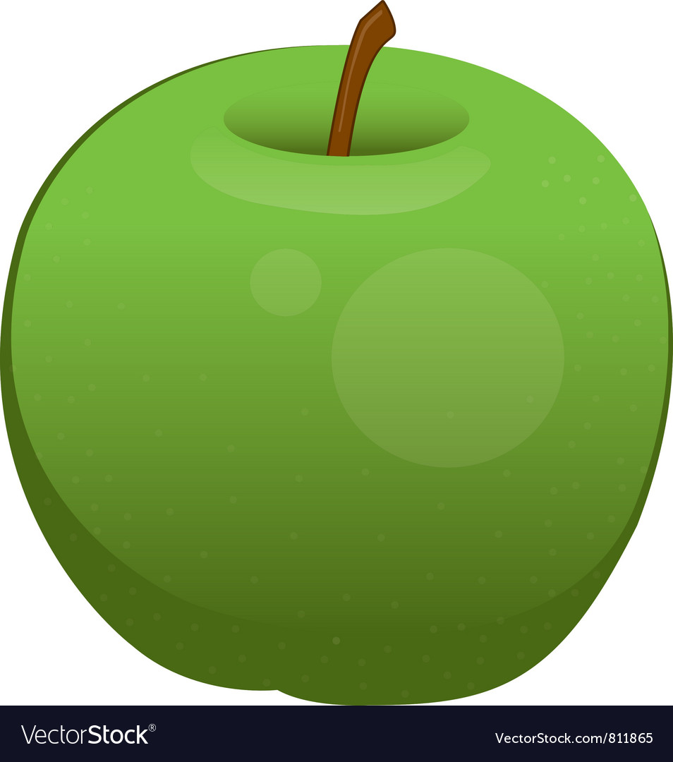 Apple isolated vector | Price: 1 Credit (USD $1)