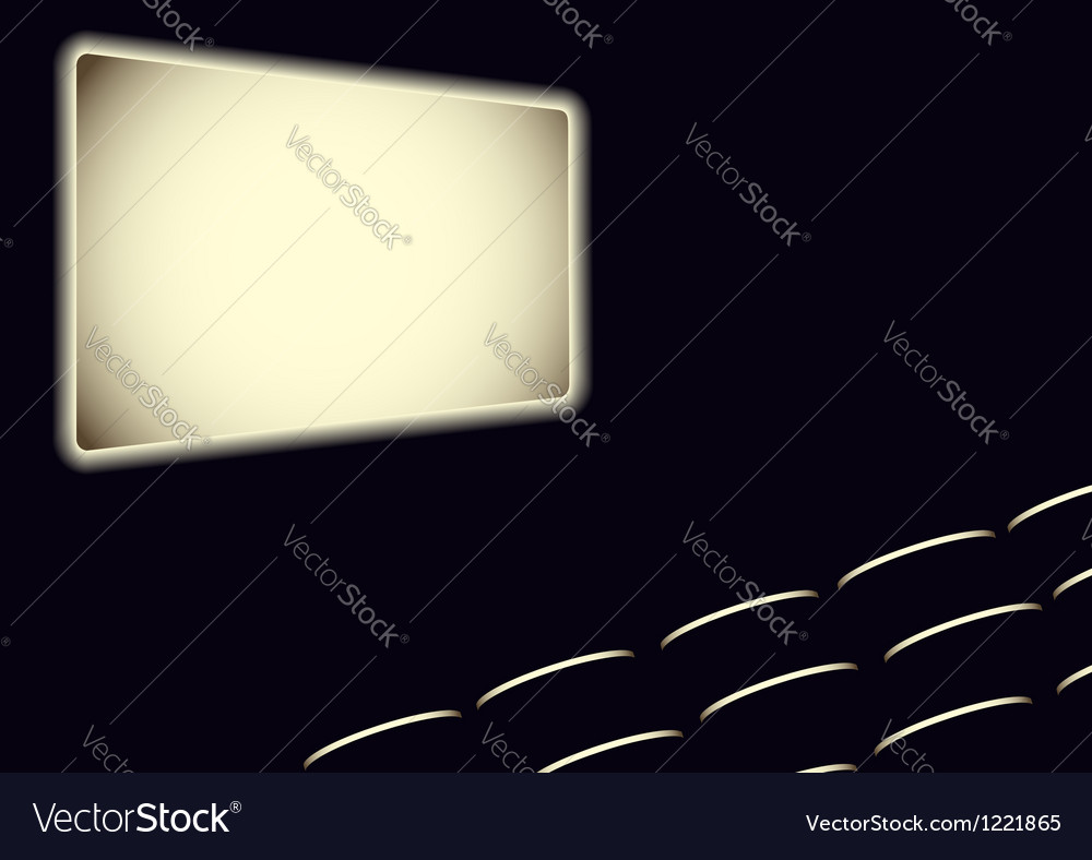 Cinema hall vector | Price: 1 Credit (USD $1)