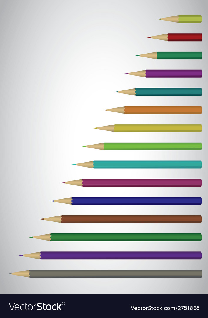 Color pencils poster vector | Price: 1 Credit (USD $1)