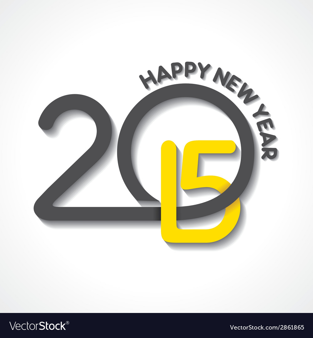 Creative happy new year 2015 design stock vector | Price: 1 Credit (USD $1)