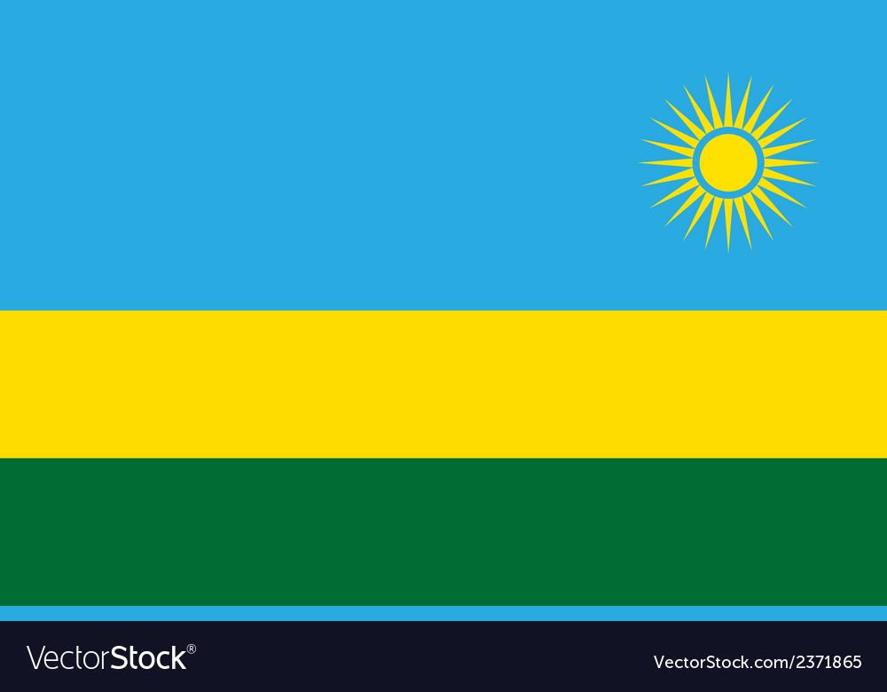 Flag of rwanda vector | Price: 1 Credit (USD $1)