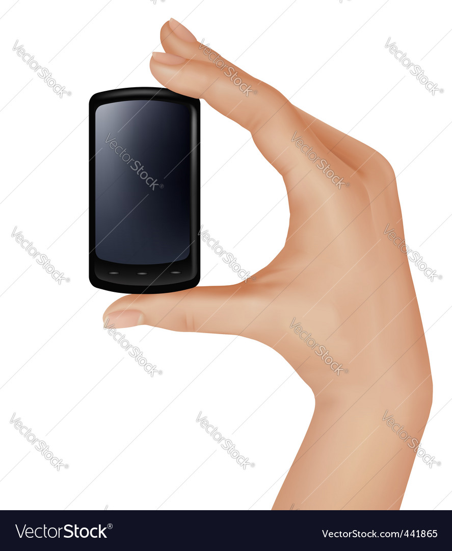 Hand with telephone vector   Price: 3 Credit (USD $3)