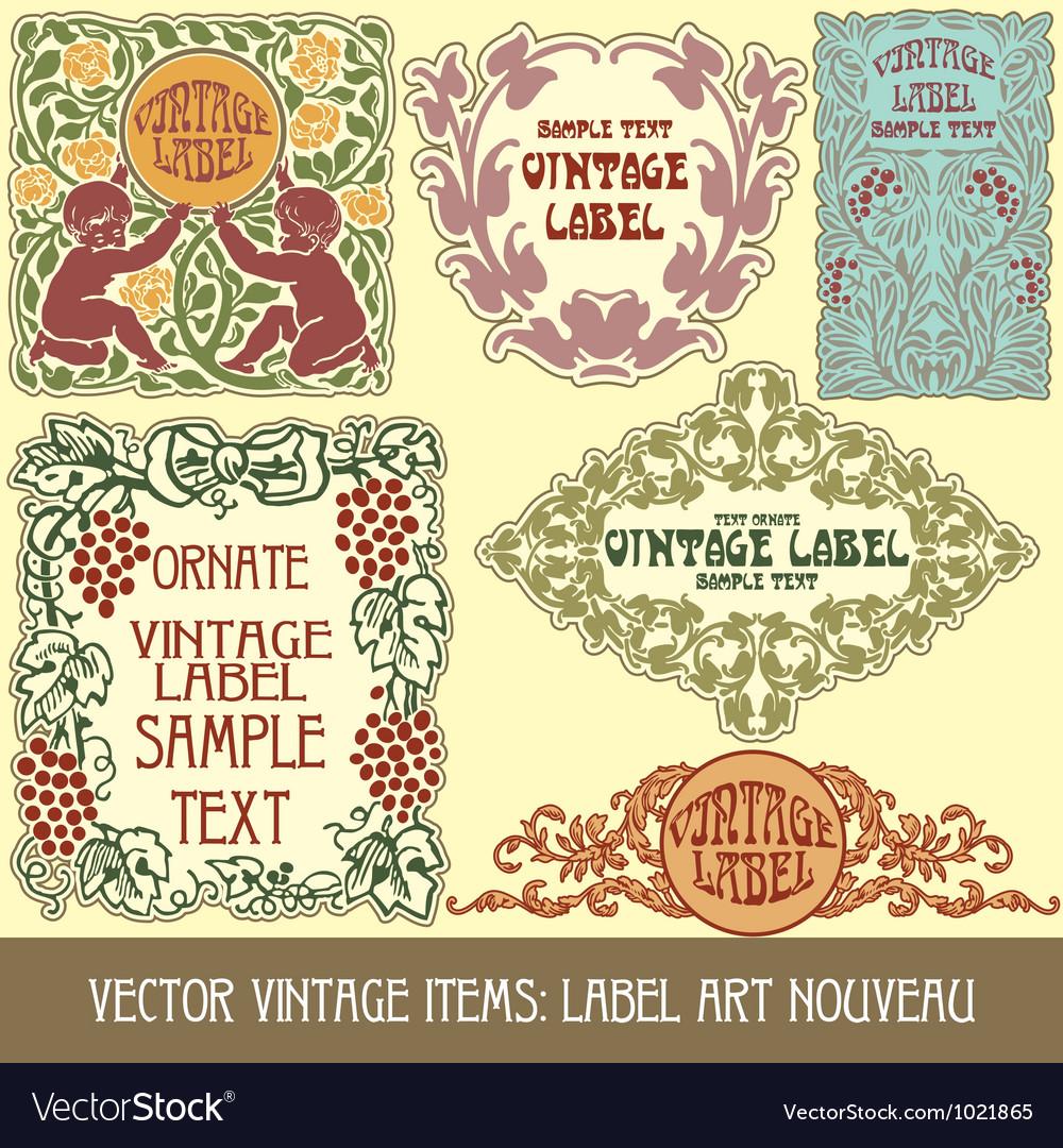 Label art nouveau vector | Price: 1 Credit (USD $1)