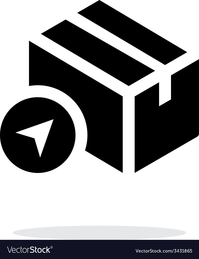 Location shipment box simple icon on white vector | Price: 1 Credit (USD $1)
