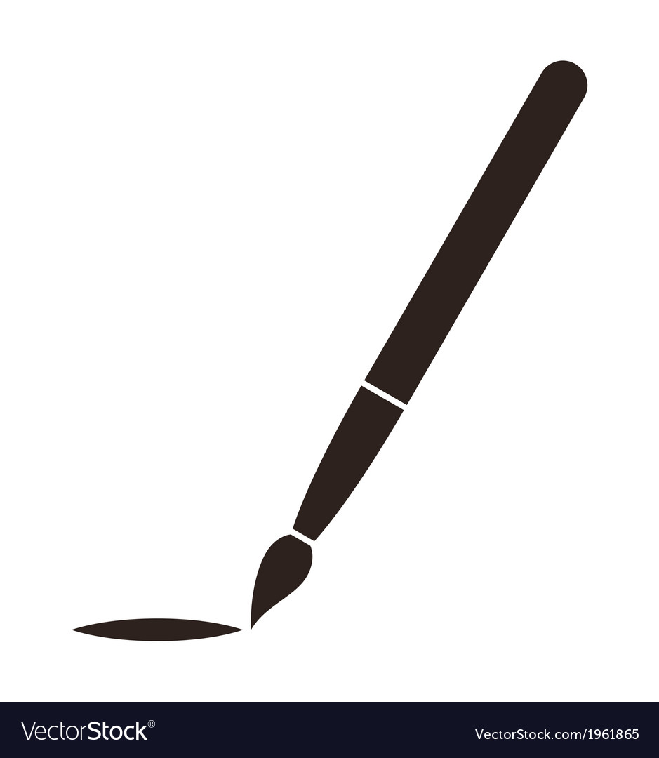 Paintbrush symbol vector | Price: 1 Credit (USD $1)
