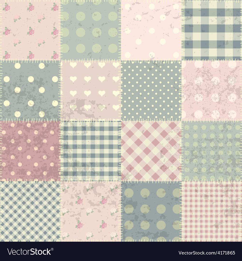 Patchwork in style shabby chic vector | Price: 1 Credit (USD $1)