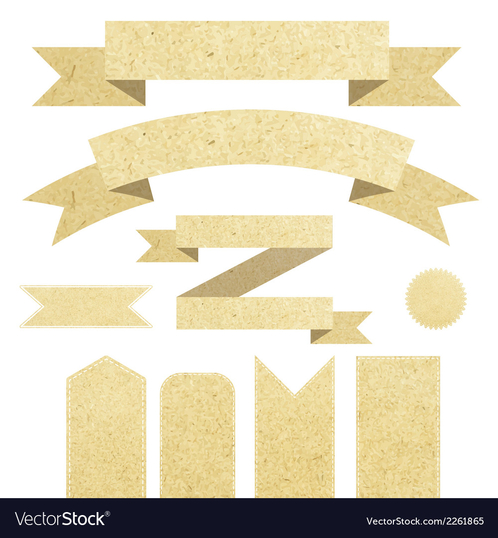 Set paper ribbons vector | Price: 1 Credit (USD $1)