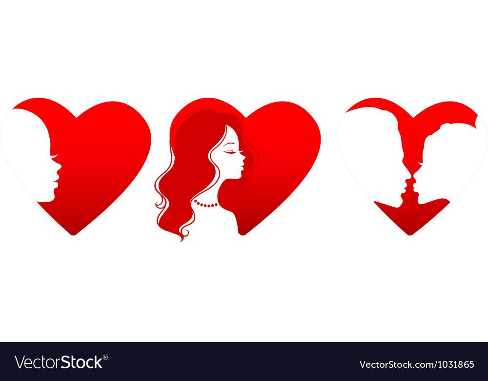 Silhouette hearts vector | Price: 1 Credit (USD $1)