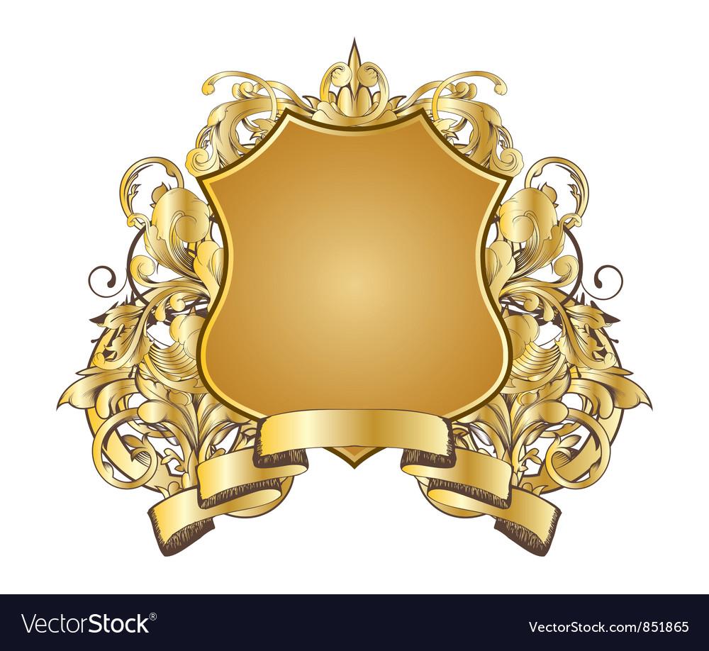 Vintage gold emblem vector   Price: 1 Credit (USD $1)