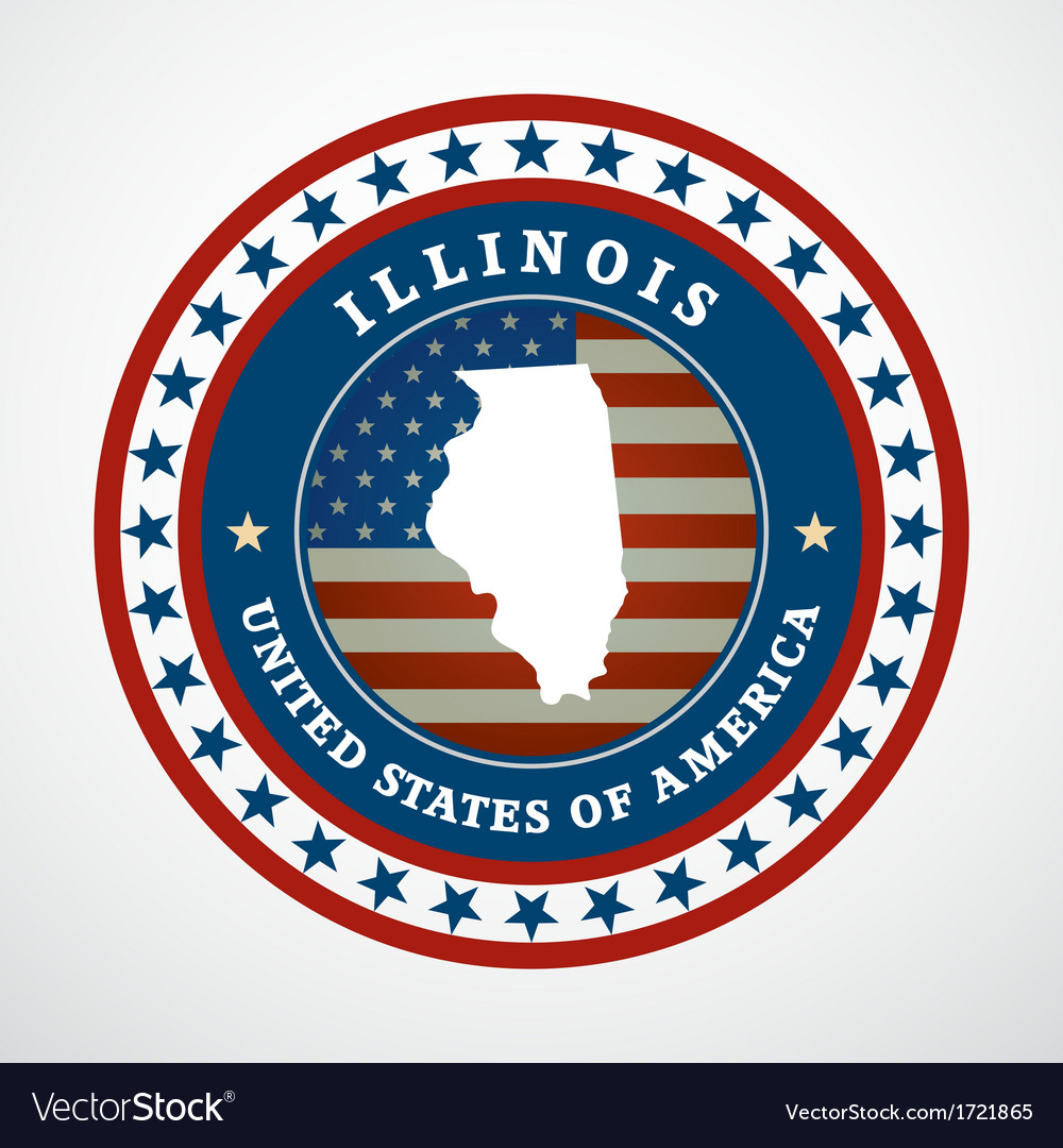 Vintage label illinois vector | Price: 1 Credit (USD $1)