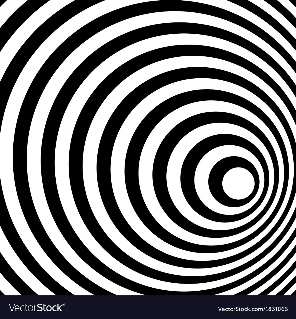 Abstract ring spiral black and white pattern vector | Price: 1 Credit (USD $1)