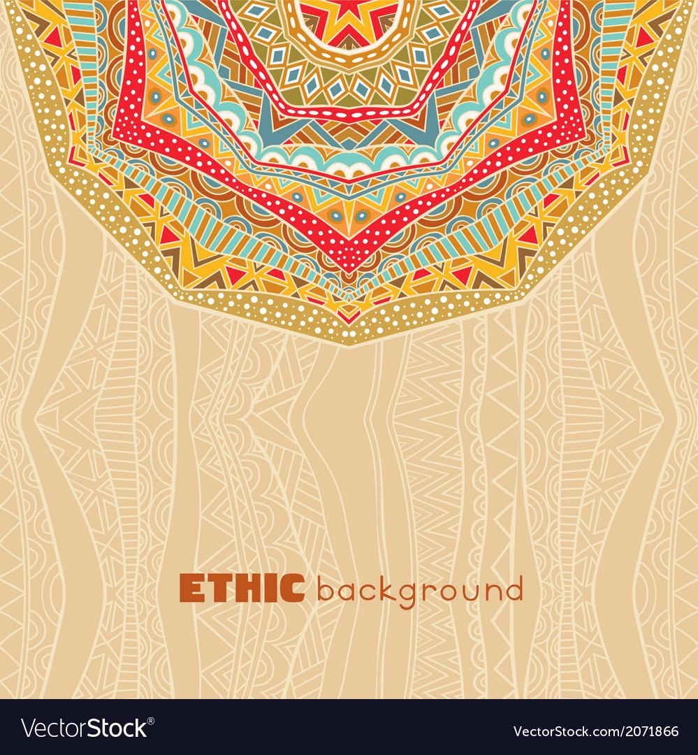 Bright ethnic background vector | Price: 1 Credit (USD $1)