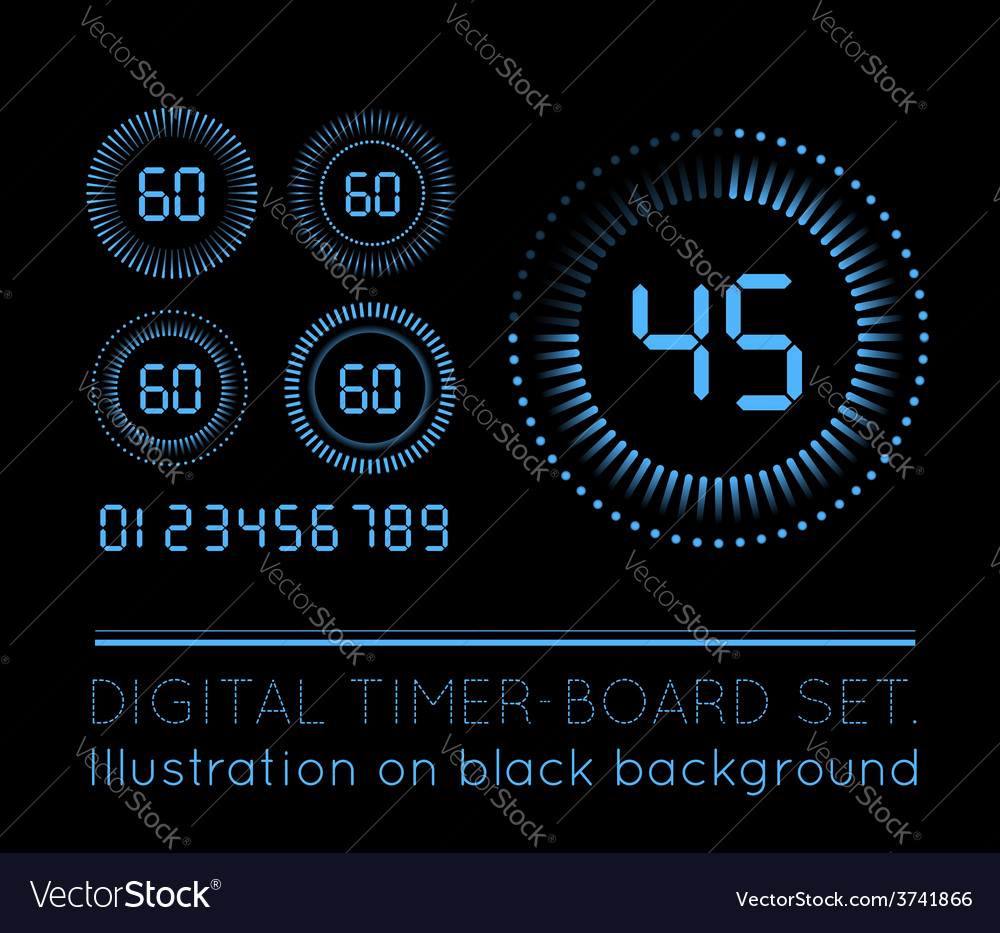 Digital countdown timer vector | Price: 1 Credit (USD $1)