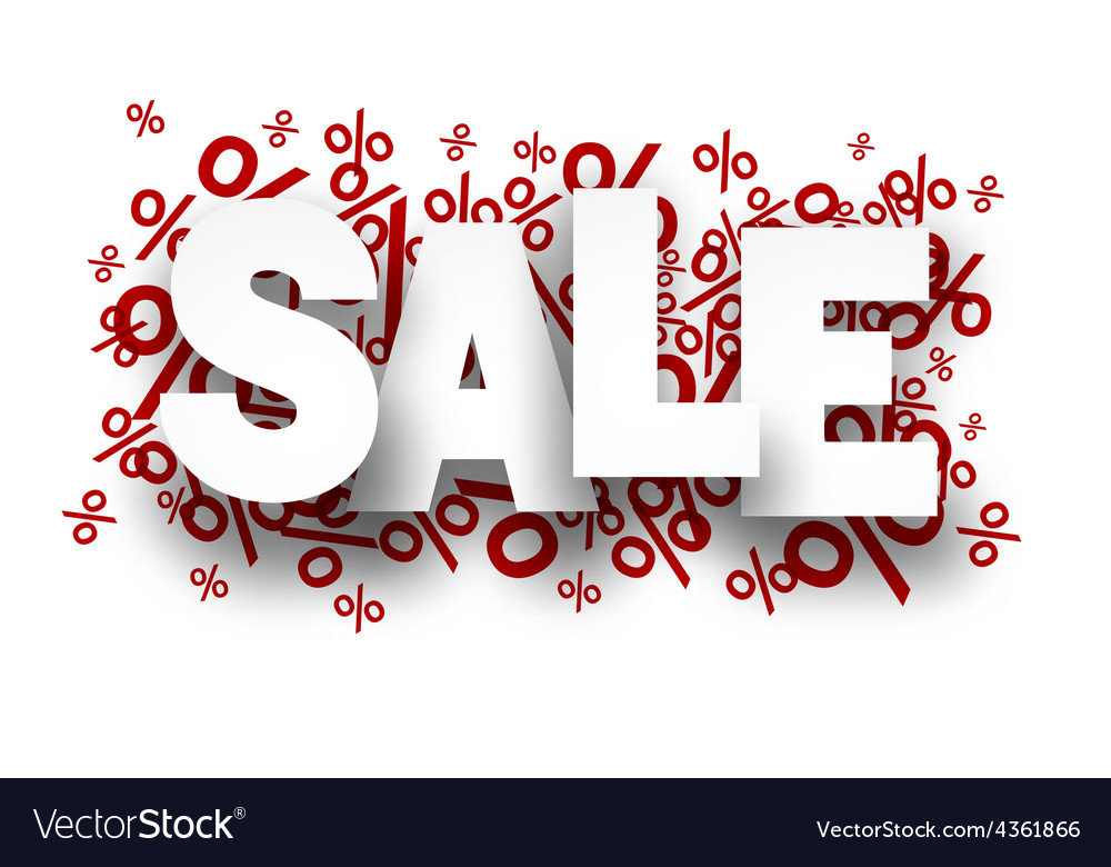 Sale paper note over percent signs vector   Price: 1 Credit (USD $1)