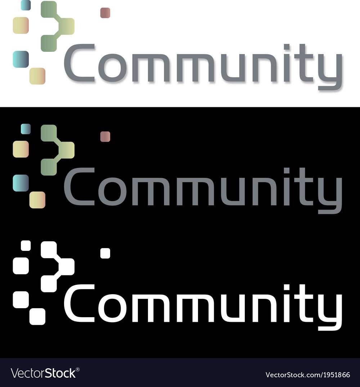 Social media community company icon logo vector | Price: 1 Credit (USD $1)